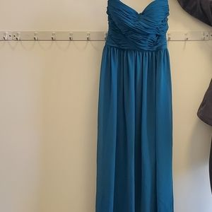 Teal evening gown